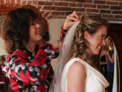 About Helen Tozer - specialist bridal hair styles for South West weddings.